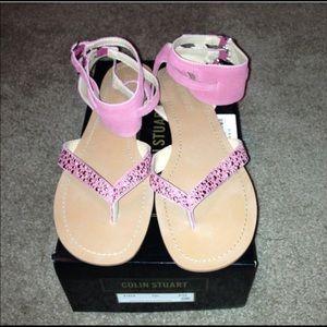Colin Stuart Fuchsia Sandals